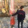 玉矿替代无裂纹开采新设备高效安全液压劈裂机
